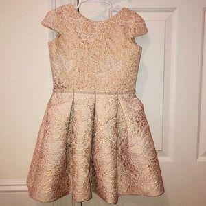 High end girls wedding dress   size 8   rose gold